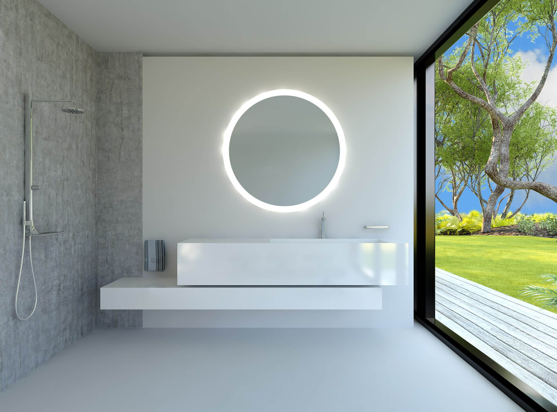 Alldrei Badspiegel Mit Licht Runder Badezimmerspiegel Mit Led