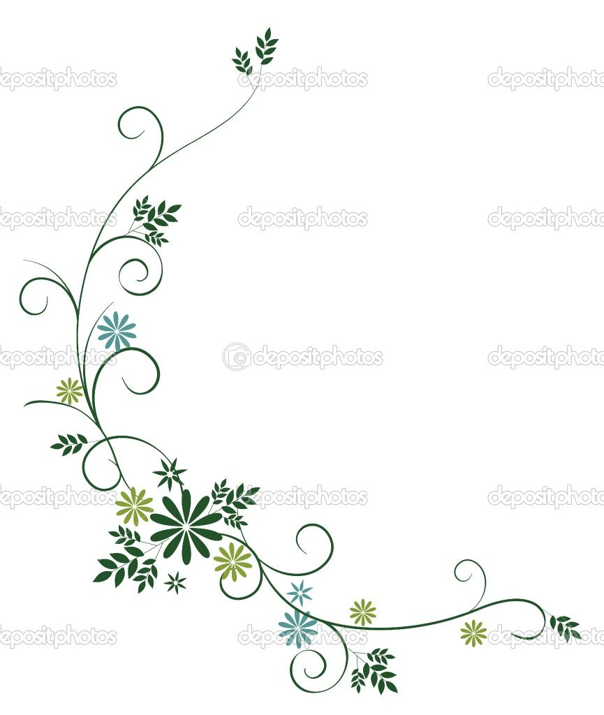 Drawings Of Vines And Flowers | Wild flower and vines | Stock Photo © Li Su #3445107