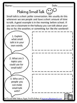 Free! Deluxe Social Skills Bundle-Master Conversations! | social ...