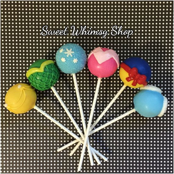 Items similar to 24 Princess Cake Pops for birthday, party favors, frozen, little mermaid, cinderella, snow white, beauty and the beast, sleeping beauty on Etsy