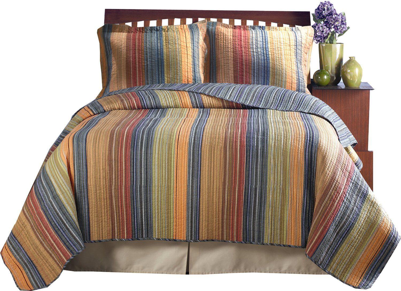 Amazon.com: Greenland Home Katy Full/Queen Quilt Set: Home ... : home quilts - Adamdwight.com