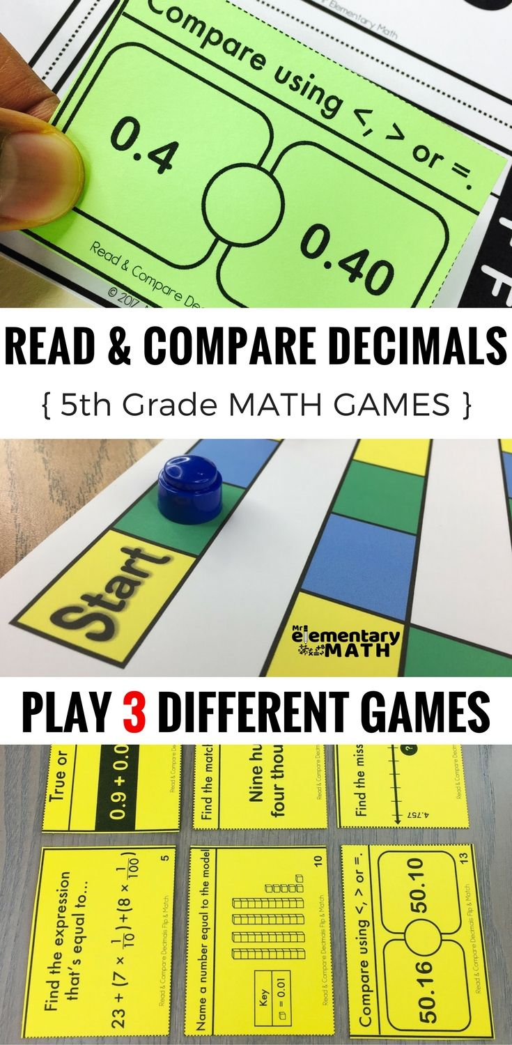 Comparing Decimals Games and Centers 5th Grade | Maths, Worksheets ...