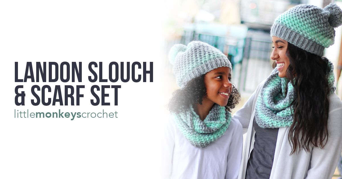 Landon Slouch and Scarf (Adult and Child Sizes)