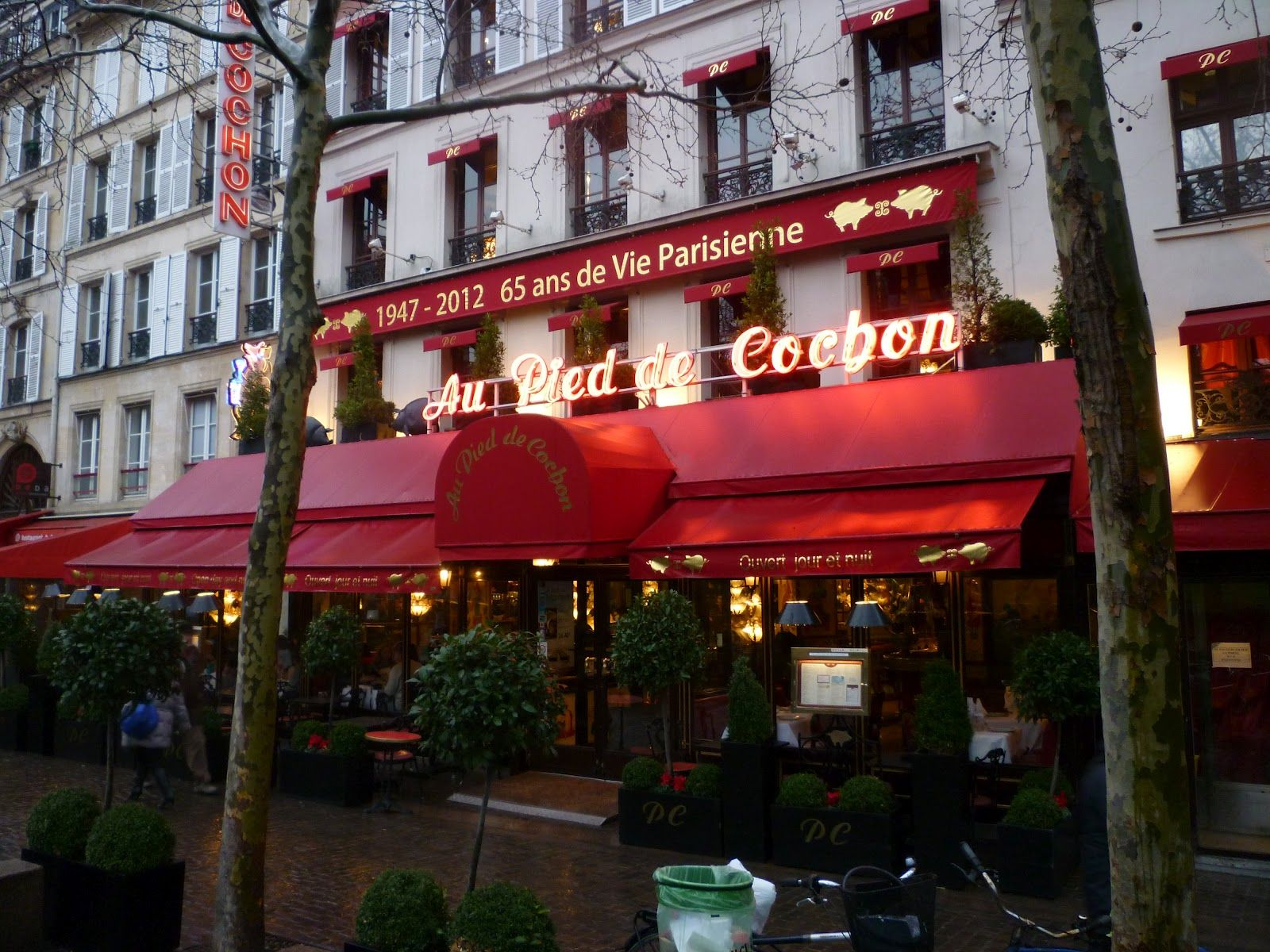 Au Pied de Cochon never closes – there's no lock on its front door and its ovens haven't been turned off since December 6, 1946.