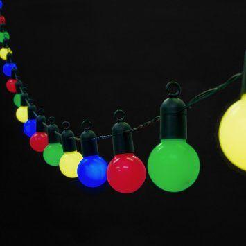 Guirlande Lumineuse Guinguette 20 Boules LED Blanc Chaud pour Int/érieur//Ext/érieur Lights4fun