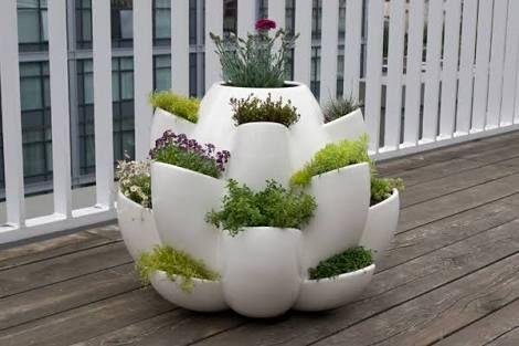 Modern Herb Pot Google Search Balcony Herb Gardens Patio Herb Garden Creative Planter