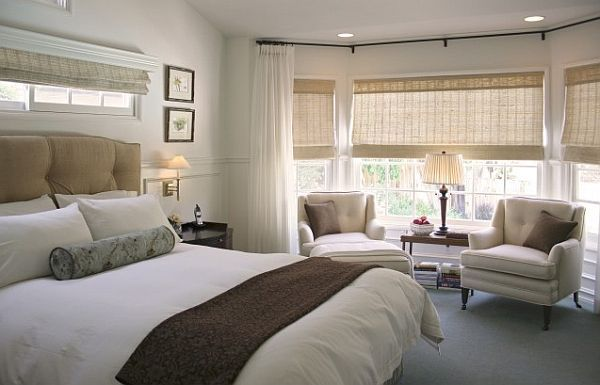 How To Utilize The Bay Window Space Traditional Bedroom Master Bedroom Sitting Area Hotel Inspired Bedroom