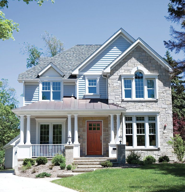 Shaker Craftsman 6 Lite Ready To Install Wood Prehung Front Entry Door Brick Exterior House Dream House Exterior House Designs Exterior