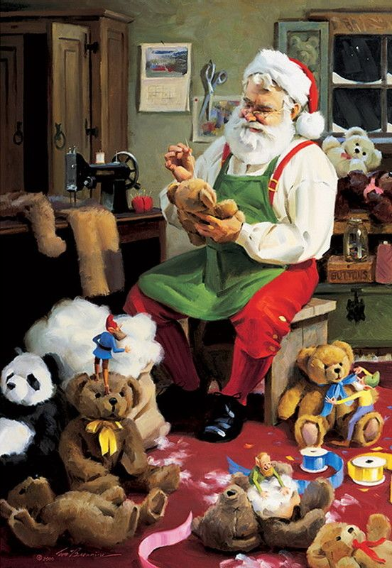 Santa and the Gifts by Tom Browning