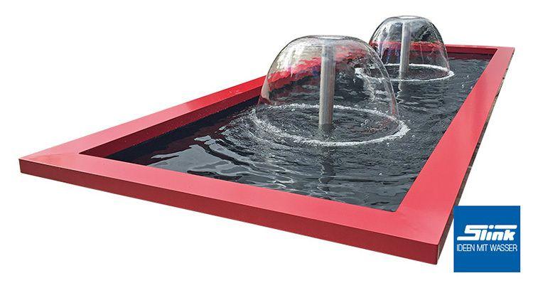 Gartenbrunnen architektonisches Wasserbecken mit Wasserglocke