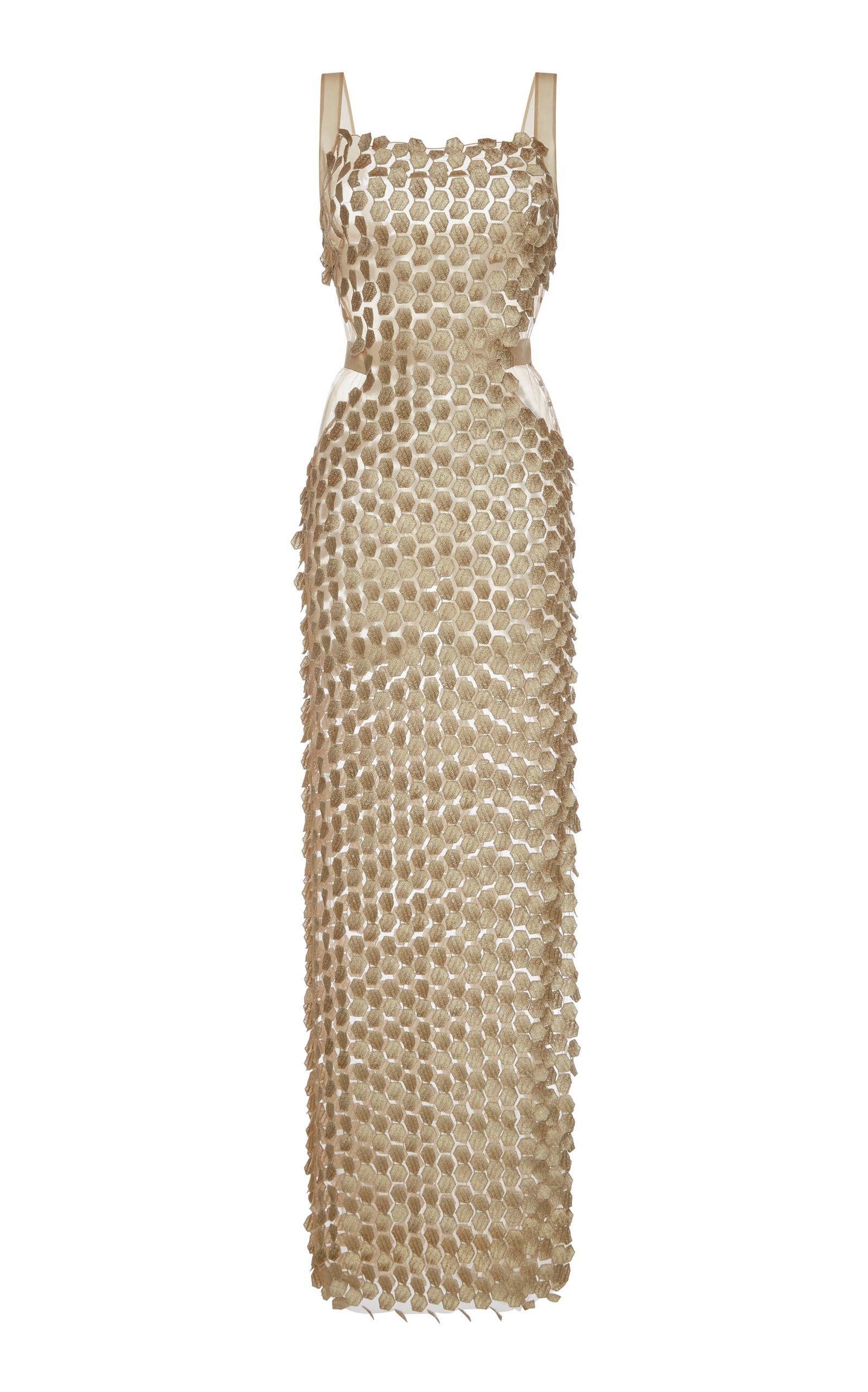 Alberta ferretti honeycomb macrame gown fashion lust pinterest