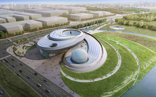 REVISTA DIGITAL APUNTES DE ARQUITECTURA: Proyecto Ganador Edificio  Planetario en Shanghai Chin…   Diseño de plaza, Arquitectura paisajista,  Maquetas arquitectonicas