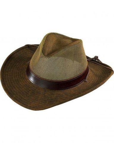 Henschel 5297-59 Aussie Packable Mesh Breezer Hat Turbante 1fed4620abae