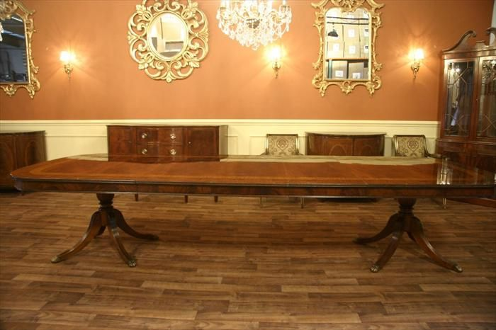 12 Foot Dining Table Seats 14 People Shown In Walnut Finish Maybe Our Next House Will Be Enough For This