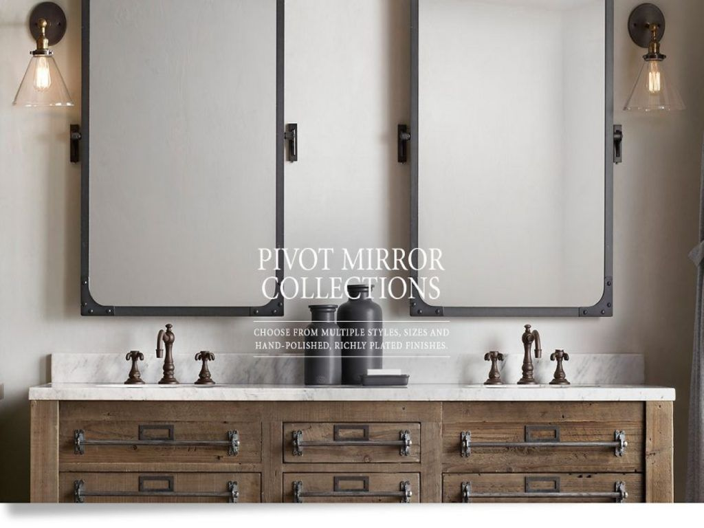 restoration hardware mirrored bath accessories
