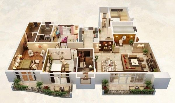 25 Three Bedroom House Apartment Floor Plans Mansion Floor Plan Apartment Floor Plans 3d House Plans