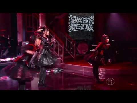 Babymetal Gimme Chocolate The Late Show Youtube