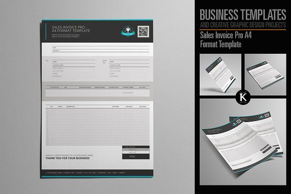 Sales Invoice Pro A4 Format Vector Icons Free Graphic Design Projects Creative Graphic Design