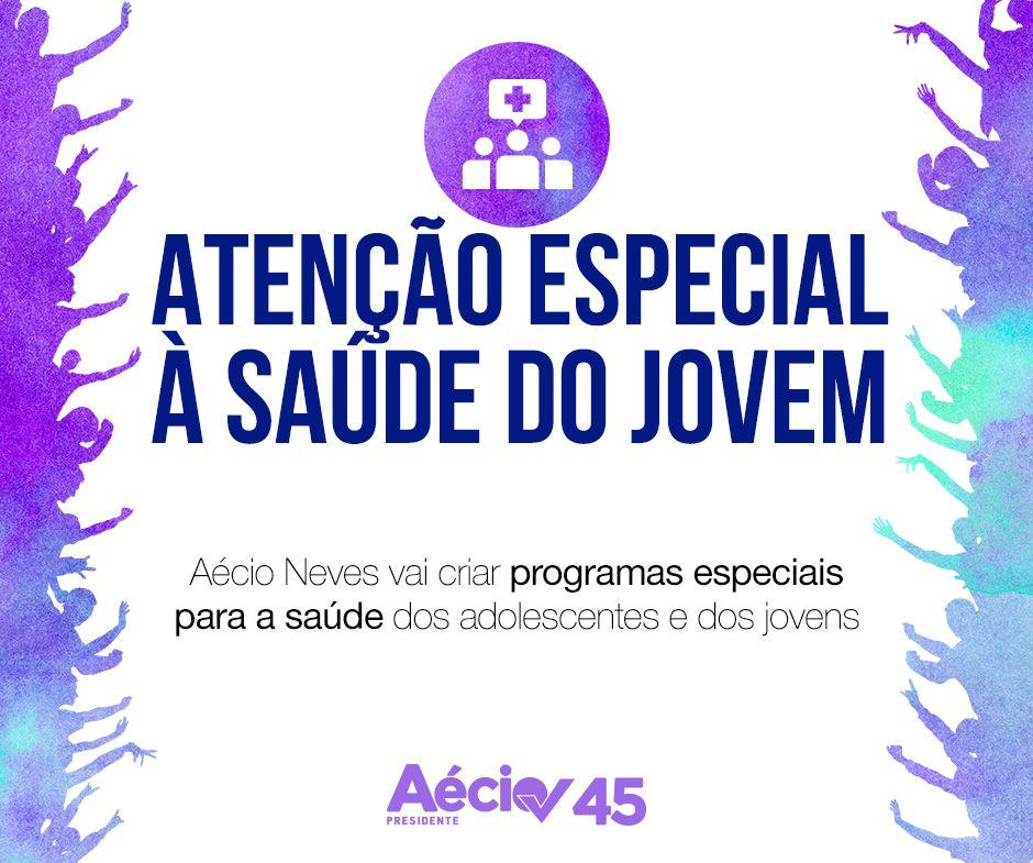 Saúde dos jovens: Aécio Neves vai criar programas especiais para a saúde dos adolescentes e dos jovens.