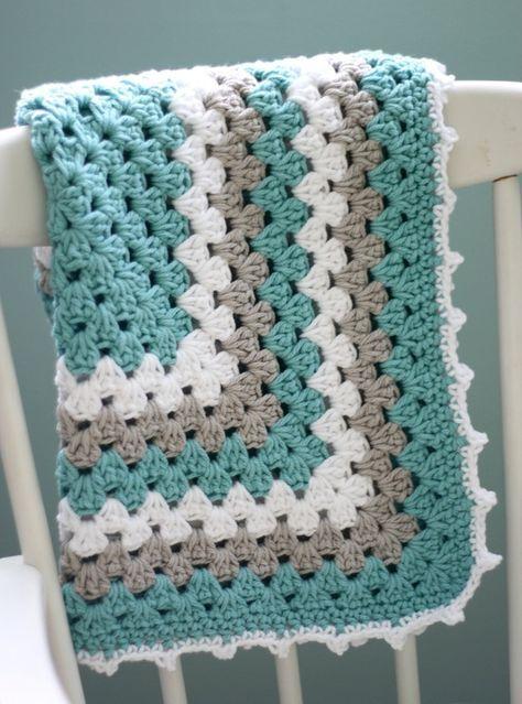 Granny Square Pattern - A free crochet pattern | Mantas tejidas ...