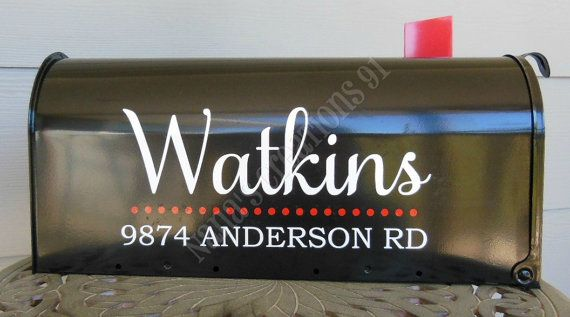 Custom Mailbox Vinyl Decal-Family Name Mailbox by NanasCreations91