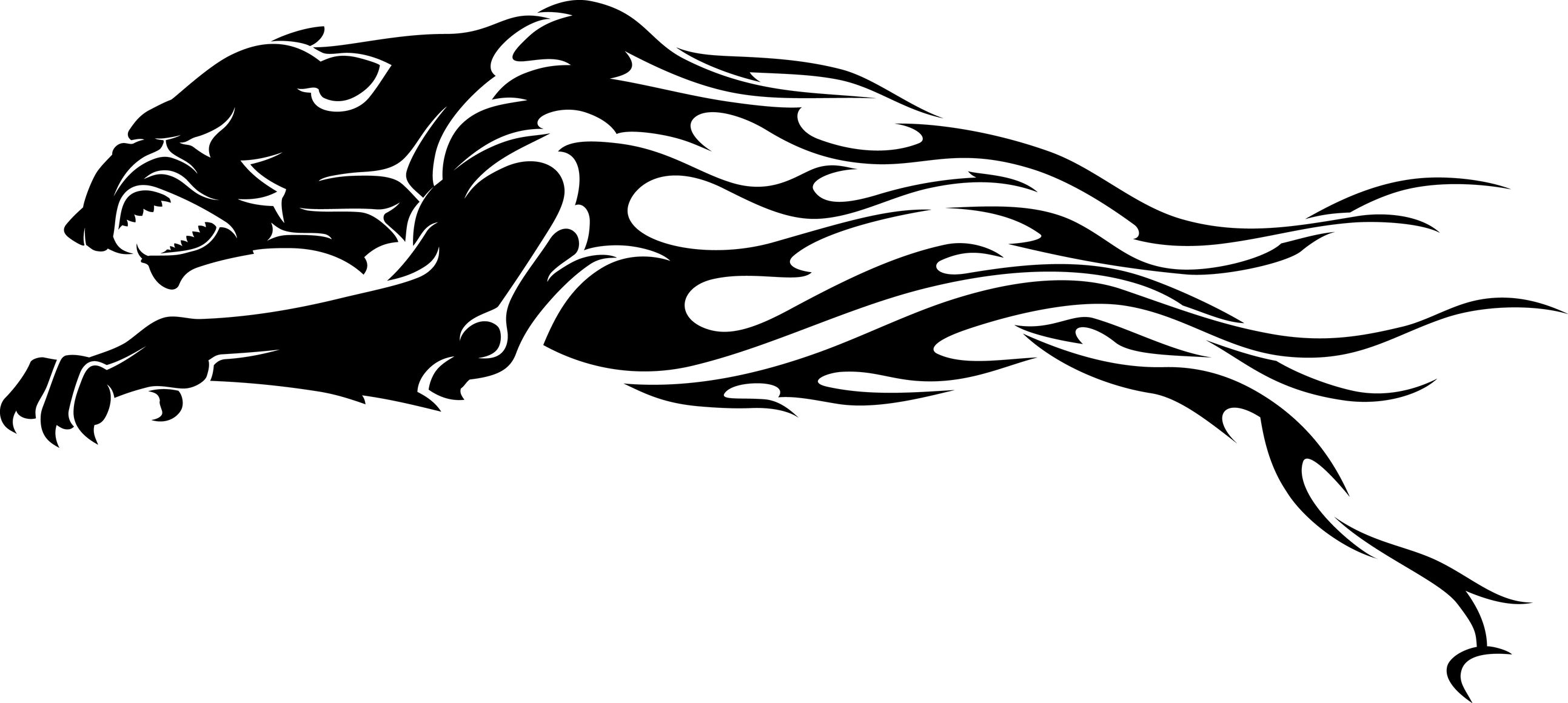 Tribal Black Panther Tattoo