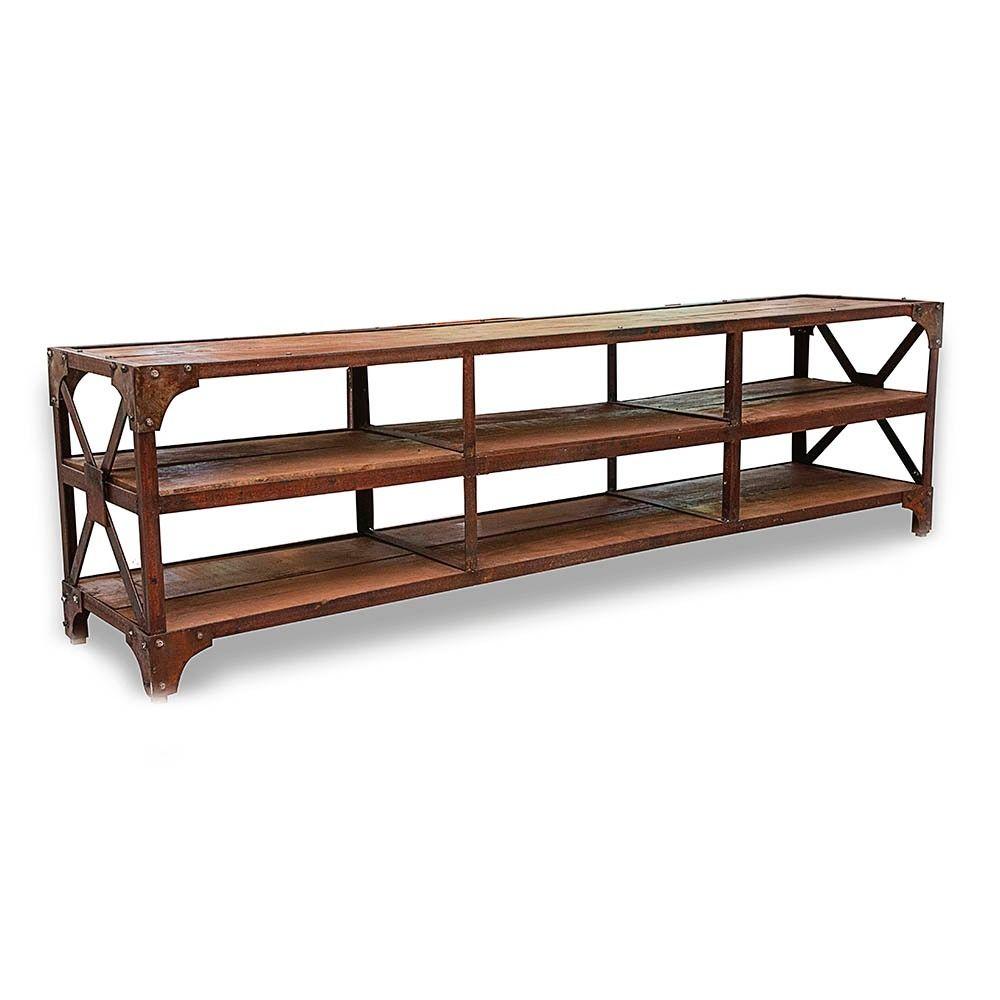 Mueble r stico madera y hierro mesas pinterest - Muebles hierro y madera ...