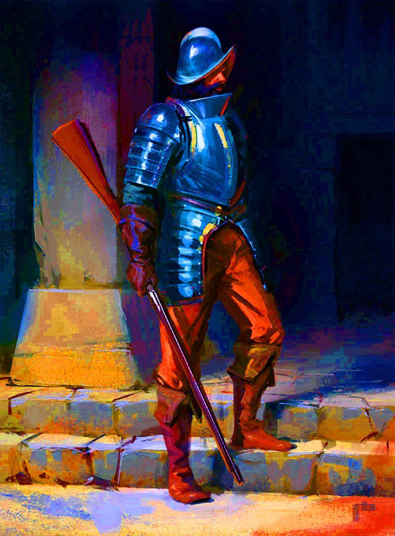 рыцари с картинки левитин молодой человек