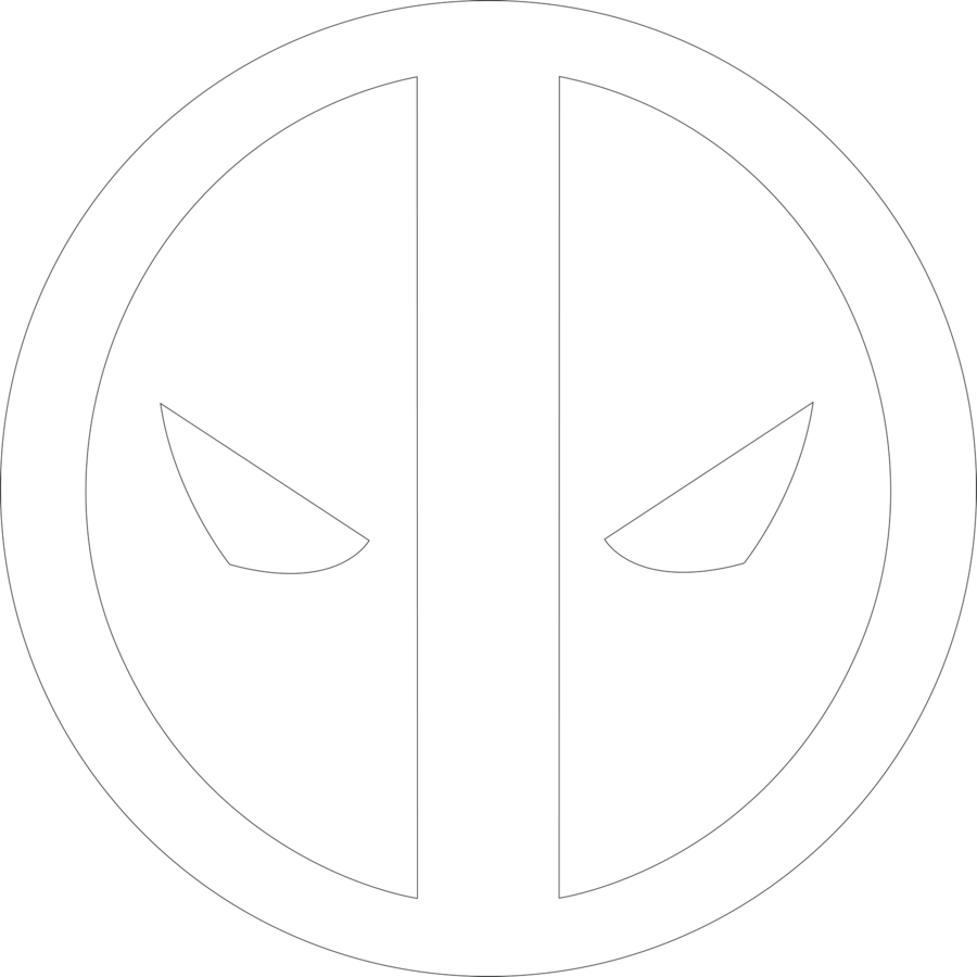 Deadpool Logo 1 Outline By Mr Droy On Deviantart Deadpool Logo Deadpool Logo Art Deadpool Symbol