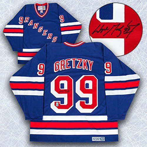 Wayne Gretzky New York Rangers Autographed Retro CCM Hockey Jersey - WGA COA *** To view further for this item, visit the image link.