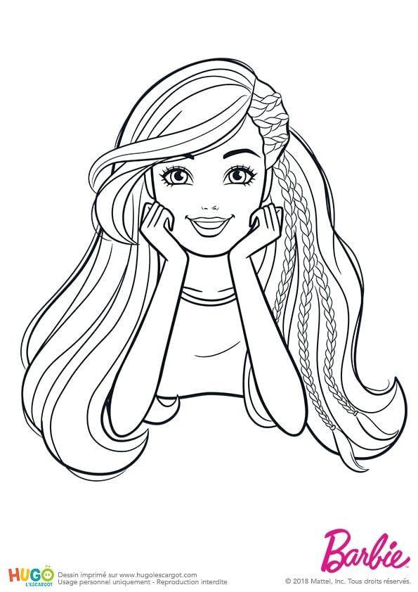 Coloriage Et Illustration Barbie Fashionistas Portrait Classique
