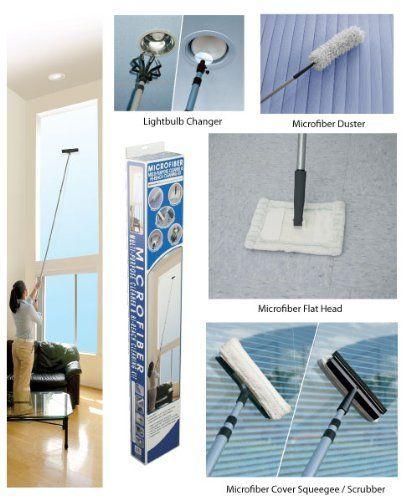 Hi Reach Microfiber Cleaning Kit W 8 Ft Telescopic Pole