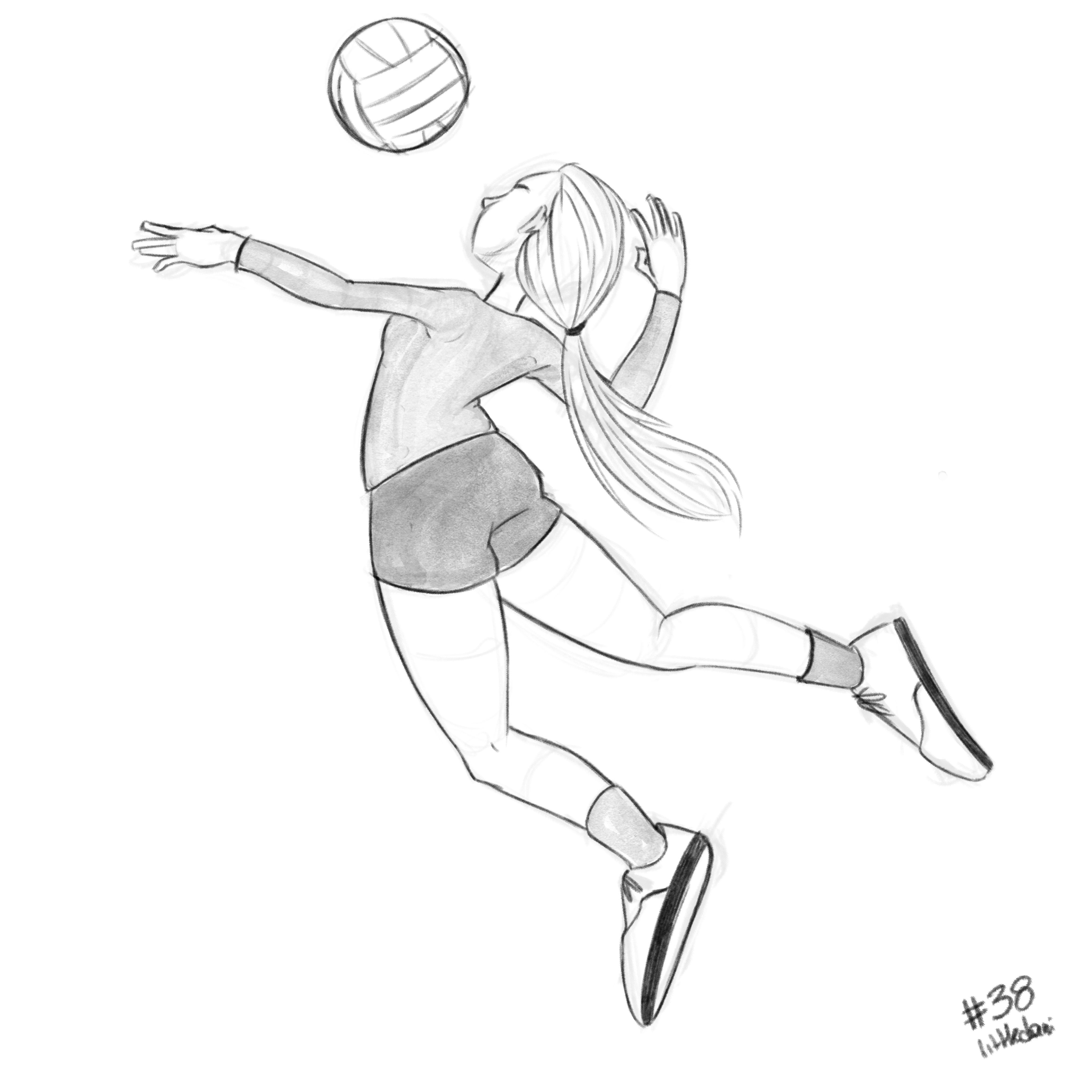 Volleyball 38 365 Day38 Volleyball 365daychallenge 365daysofart Sketch Drawing Illustration Sports Drawings Volleyball Drawing Drawings For Him