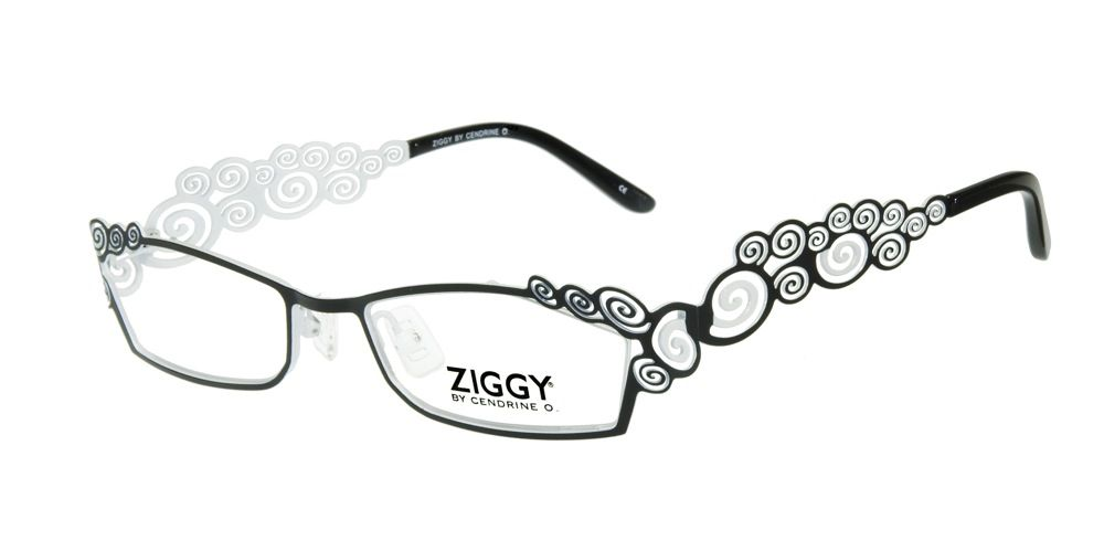 af1c460efd ZIG Eyewear  ZIGGY 1056 C1 - Ornate curlicue design on the front and  temples. This frame makes a huge impact on any outfit!