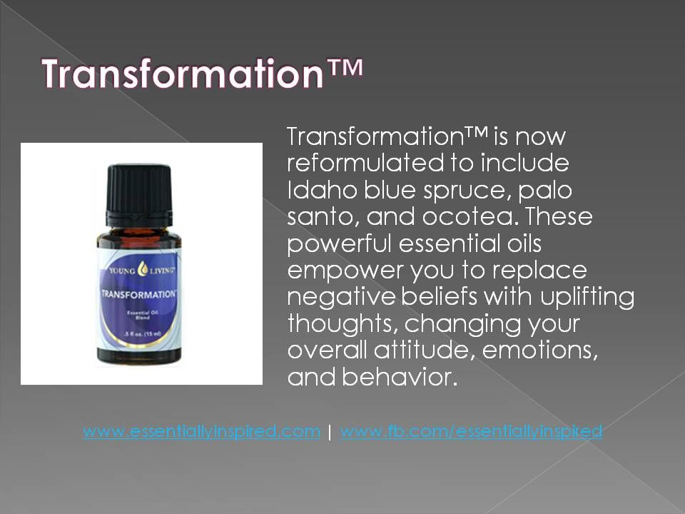 Transformation Essential Oil Blend From Young Living