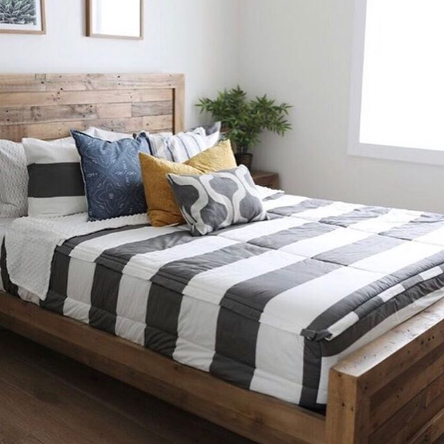 "beddy's (bed•ease) on Instagram: ""Game on Gray is one of my favorite Beddy's! I love how versatile it is. It looks great in adult bedrooms, perfect for teenagers, shared…"" #beddysbedding"