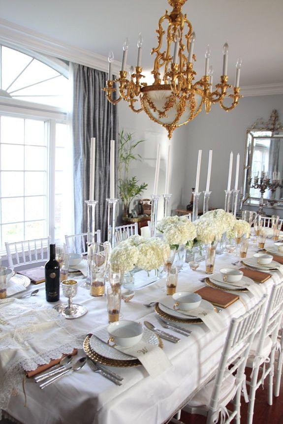 Elegant Setting Shabbat Dinner Table Shabbat Dinner Shabbos Table