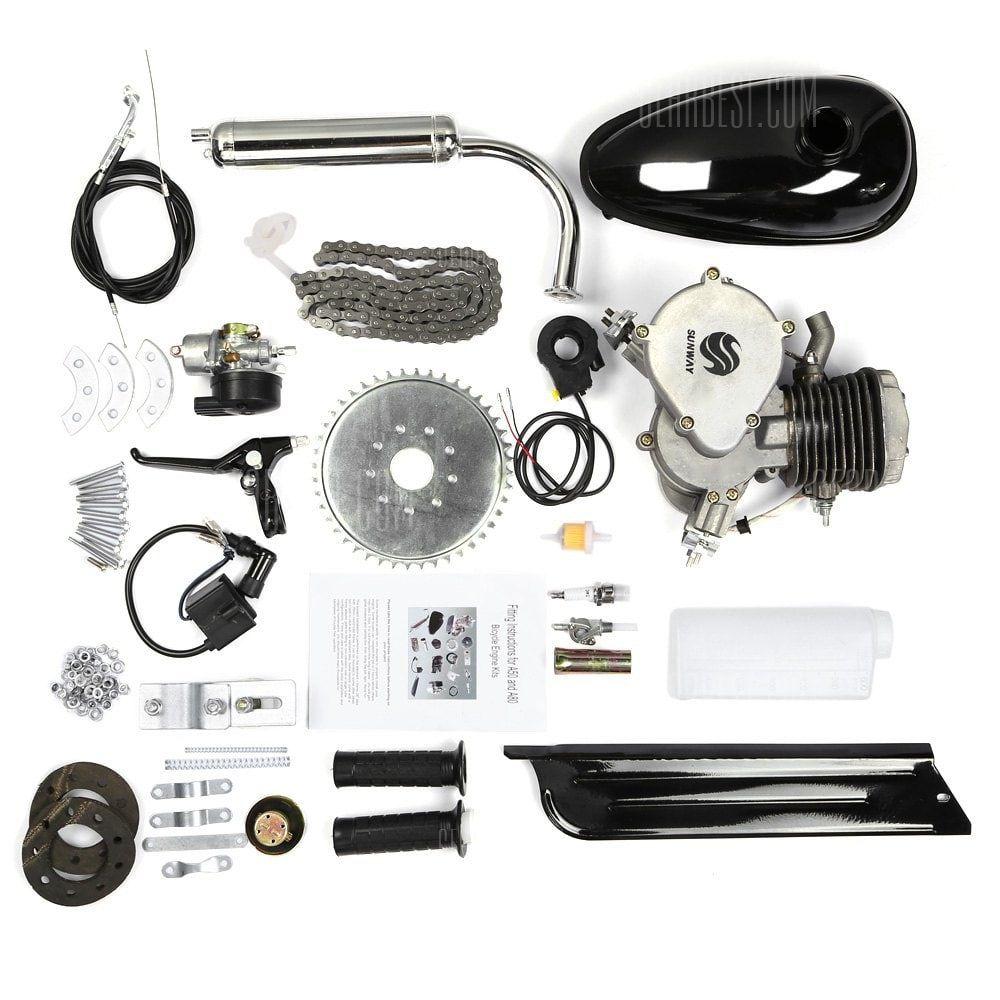 80cc 2-ventpipe Cycle Motorized Bike Black Body Engine Motor