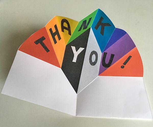 Expanding Pop Up Thank You Card Design Thank You Cards From