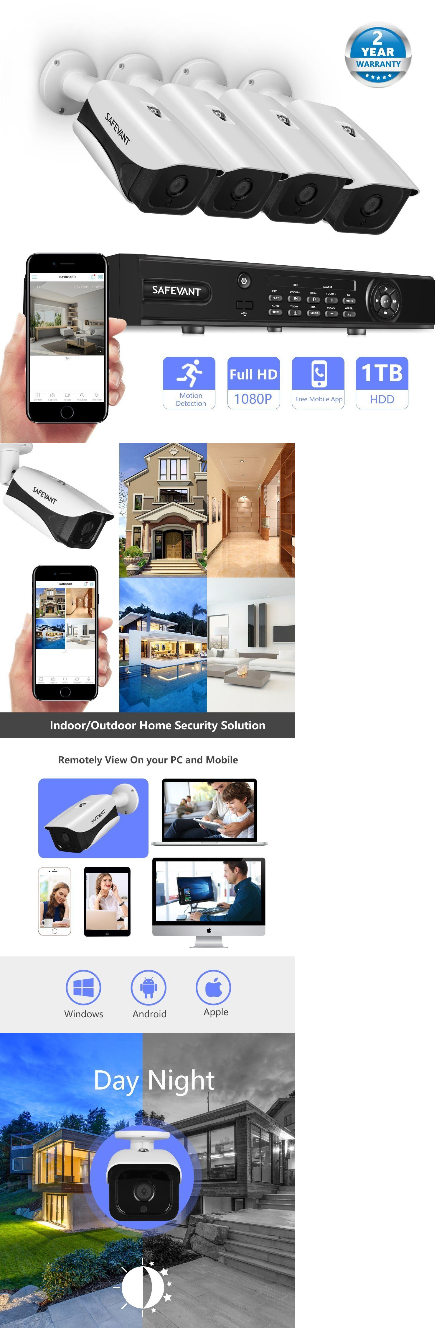 CCTV Systems 159909: Safevant 4 Channel 1080P Ahd Home Security ...