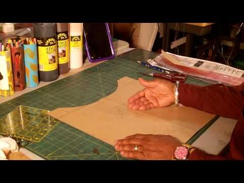 dda4f290d How To Make A Leather Tote Bag With a Fabric Lining Part 1 - YouTube ...