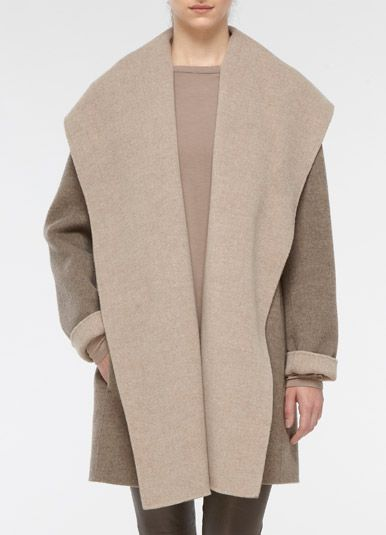 Things I'll be needing for Fall - Vince Drape Hooded Coat