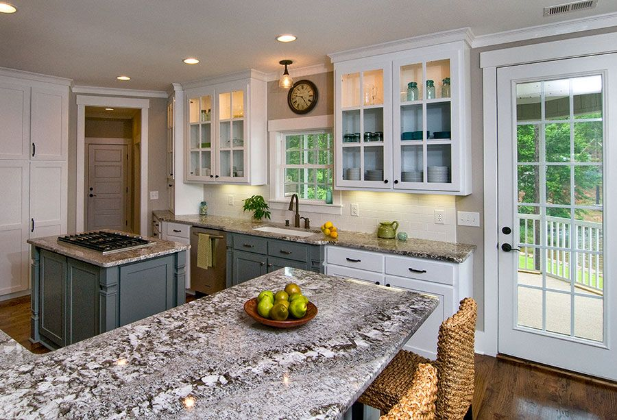 Sherwin Williams Link Gray Island And Sink Cabinets Collonade Walls Kitchen From The Don Gardner Silvergate Plan 1254 D