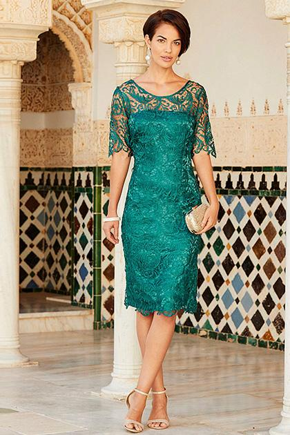 Sheath Column Knee Length Lace Mother Of The Bride Dresses With 1