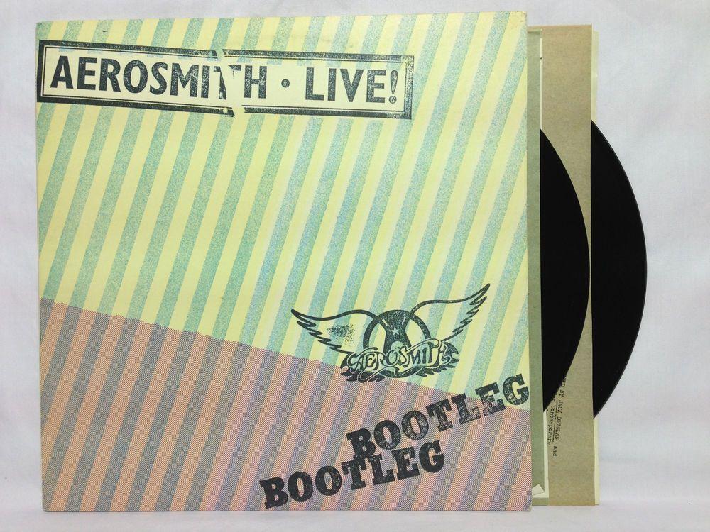 Aerosmith Live Bootleg Vinyl Record Lp W Original Poster Vinyl Record Album Aerosmith Live Aerosmith