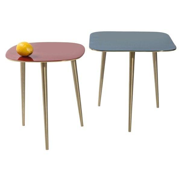 set 2 mesas auxiliares La Costa cuadrado | Tiendas On