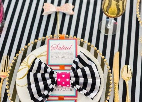 132 Round Black White Stripe Table Cloth Lamour By SparkleSoiree Part 34