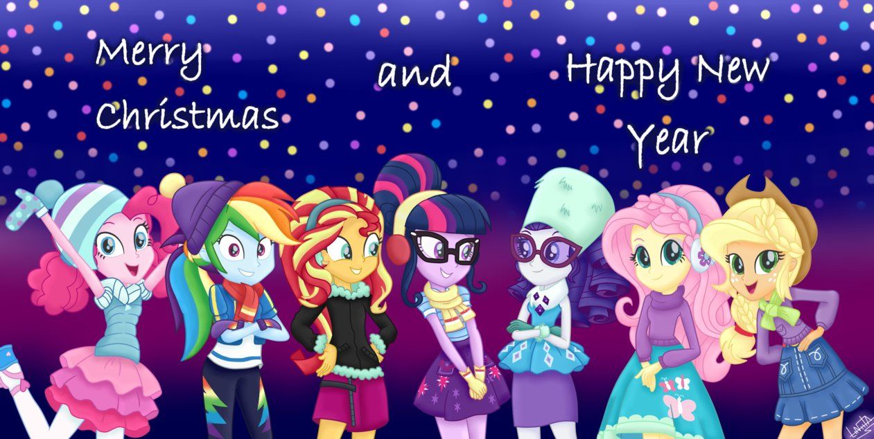 Mlp Christmas.Mlp Merry Christmas And Happy New Year By Liniitadash23