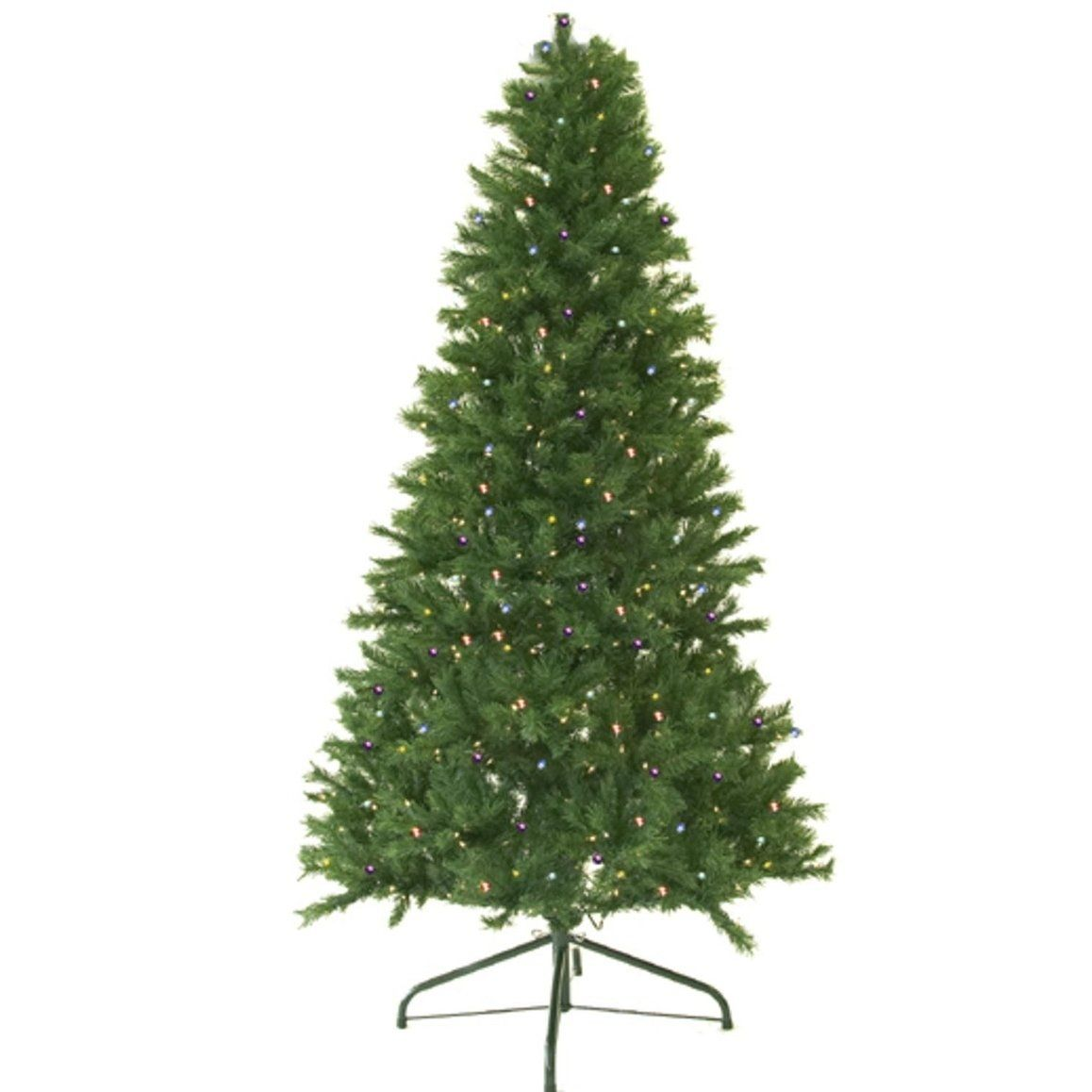 10 Pre Lit Canadian Pine Green Artificial Xmas Tree Multi Led Lights 10 Foot Pre Lit In 2019 Christmas Tree Clear Lights Pine Christmas Tree Artificial Xmas Trees