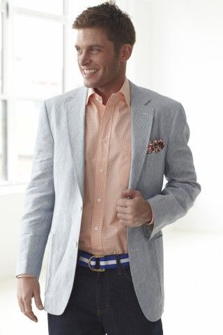 Seersucker Suit J Norman Post Seersucker Jacket Seersucker